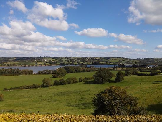 Blagdon, UK: Food with a view!