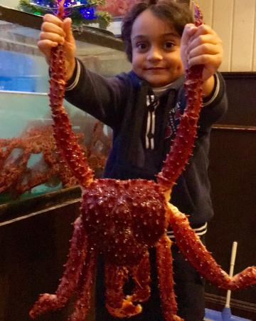 My Young Kid with mega Crab