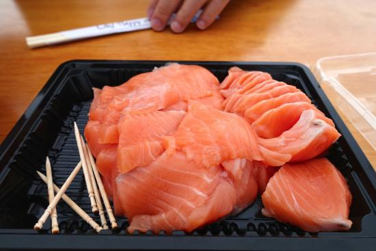 Twizel, Selandia Baru: 新鮮鮭魚