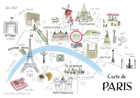 Plan artistique bild von opera cadet hotel paris for Carte de france des hotels formule 1