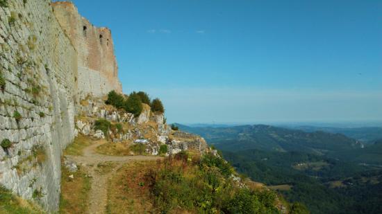 Montsegur, Frankrike: après l'effort