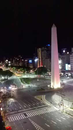 Park Silver Obelisco: Vista nocturna desde la habitación