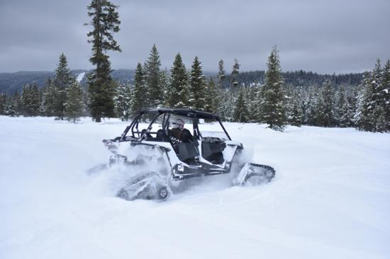 Saint Anthony, ID: Island Park Snow 4 Seat RZR rental from PMS Snow Rentals