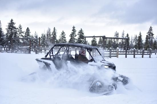 Saint Anthony, ไอดาโฮ: PMS Snow Rentals RZR On Snow Tracks In Island Park!