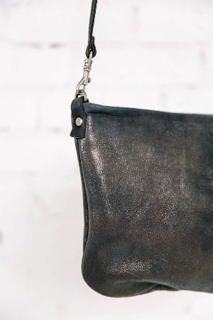 fourTWELVE: Distressed Leather Cross-body Leather Clutch by Rough and Tumble...made in Maine