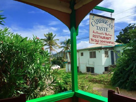 Caribbean Taste Restaurant: Sign