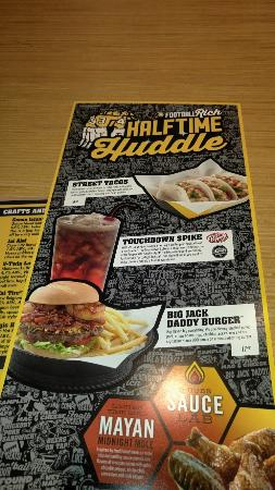 Partial BWW Menu - Picture of Buffalo Wild Wings, Largo - TripAdvisor