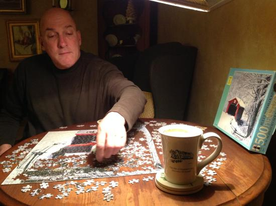 New London, NH: Puzzling is hard work!