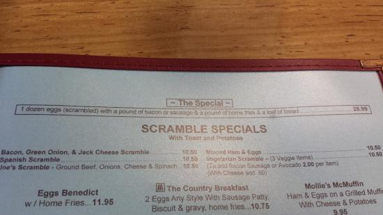 Scotts Valley, CA: Menu - scrambles