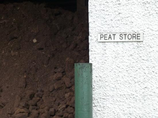 Port Ellen, UK: Peat Store - the source of that magic flavour