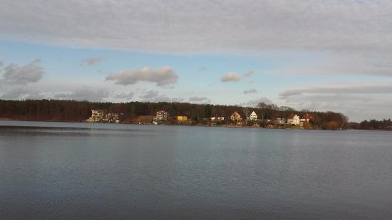 Gruenheide, Tyskland: Blick vom Hotel - See