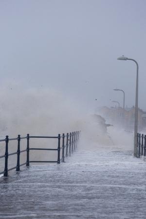 Warkworth, UK: Storm Edna, Boxing Day 2015. Amble harbour. © Col Frankland