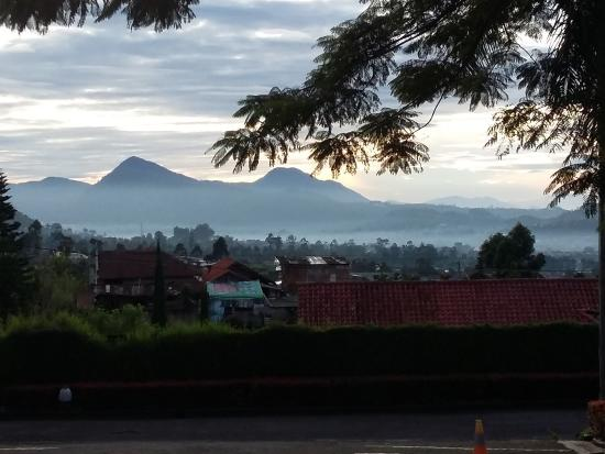 Lembang Asri: View dari depan pintu masuk hotel