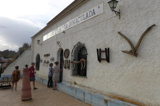 Purullena, Испания: Entrée au troisième étage du musée