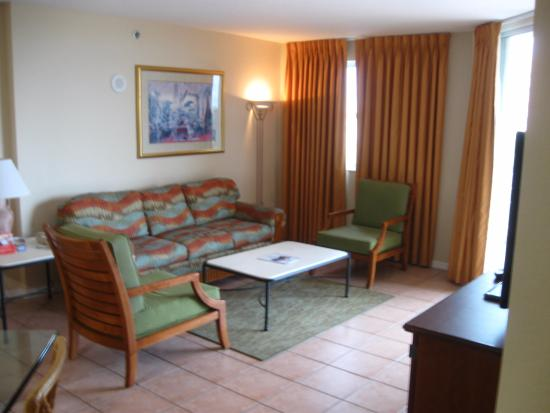 Vacation Village at Bonaventure: Living Room - Balcony on Right (not visible)
