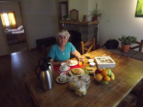 Antiguo Solar: Desayunando en el comedor