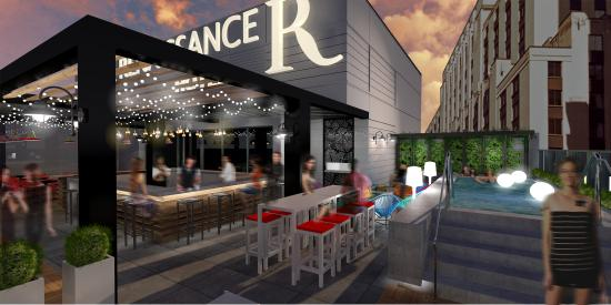 The Rooftop Terrace At Renaissance Montreal Downtown Hotel