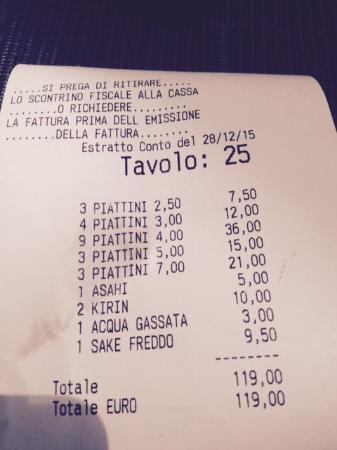 Taki : il conto!