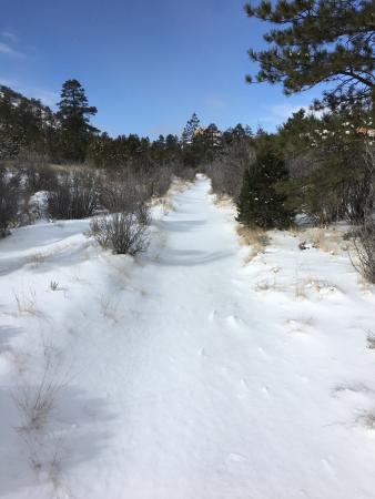 Stone Canyon Inn: A walk up the Tropic trail in virgin snow