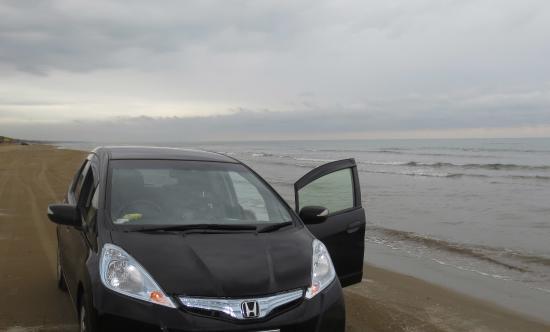 千里浜なぎさドライブウェイ, 自家用車で海岸を