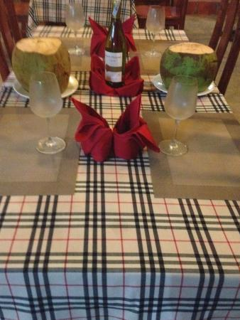 Duong To, Vietnam: new table cloths
