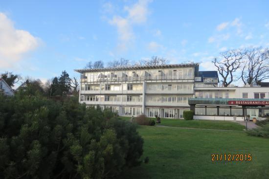 Neustadt in Holstein, Alemania: Hotel vom Ostseestrand aus