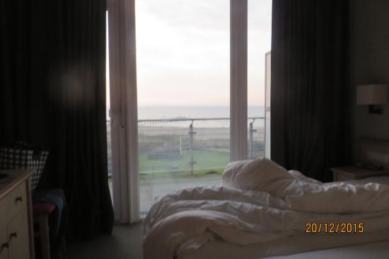 Neustadt in Holstein, Alemania: Blick aus dem Zimmer über Balkon auf Ostsee