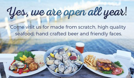 The Ruddy Duck Seafood & Alehouse: Open all year!