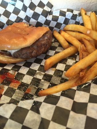 California Turkey Burger and french fries @lightweightplate