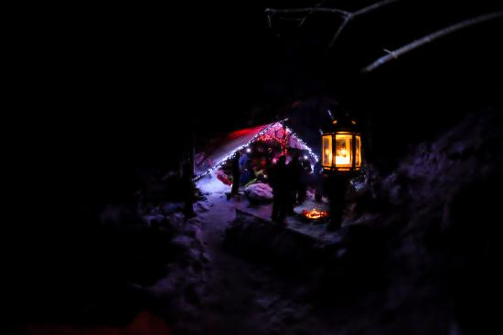 Rat's Nest Cave at Canmore Caverns: festivities afterward