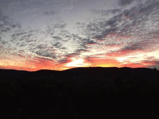 Leakey, TX: Sunset from the porch.