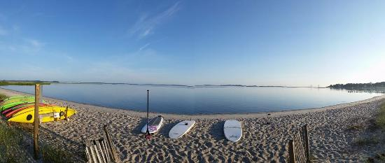 Ocean View, DE: Pristine white sandy beach at our SUP & Kayak launch site!
