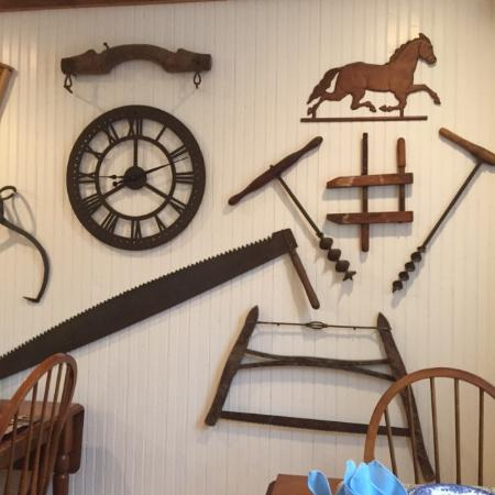 Seekonk, MA: Wooden farm implements and other items