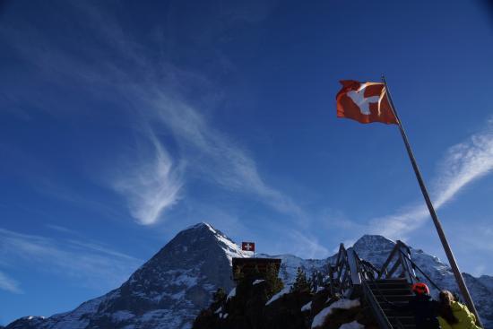 Кляйне-Шайдегг, Швейцария: Aussicht von der Terrasse des Grindelwaldblick