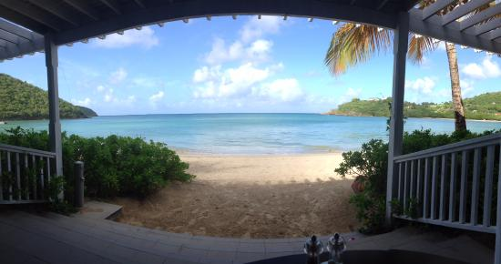 Carlisle Bay Antigua: view from breakfast