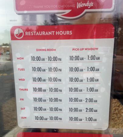 Wendy's • Hours • Seabrook • New Hampshire - Picture of Wendy's ...