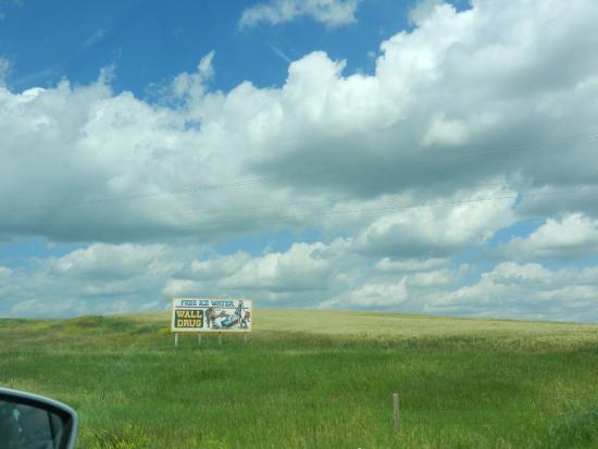 Wall, Güney Dakota: Insegna lungo la strada