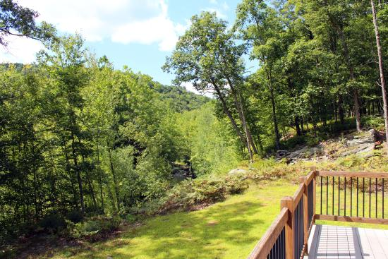 Lackawaxen, PA: See the creek off the back deck at Two Bridges