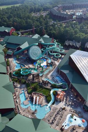 Aerial photo of Wilderness Resort, September 2015