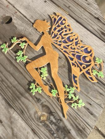 Cornwall, estado de Nueva York: Hand Carved wood work, no laser used