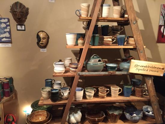 Cornwall, NY: Assorted high fire pottery mugs to oven dishes