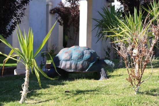 Quality Inn On Historic Route 66: Yard decoration at Quality Inn - Barstow, Ca