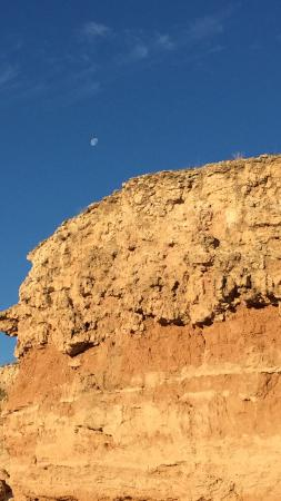 Moon over the Canyon in the morning