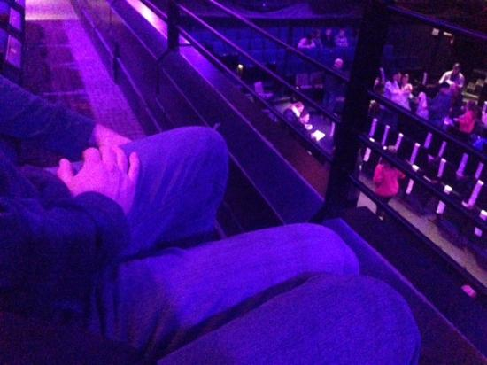 Blue Man Group: Lack of legroom in balcony, front row