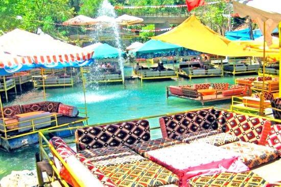 Bridge over river picture of dimcayi pinarbasi alabalik for Alanya turkish cuisine