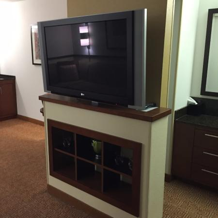 Hyatt Place Jackson/Ridgeland: large TV perfect for viewing bowl games or morning cartoons