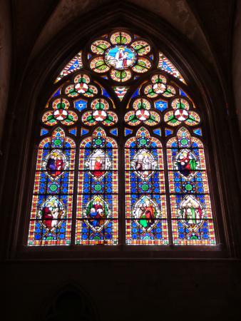 Stained Glass Cathedral Bayeux - Picture of Musee de la Tapisserie de Bayeux,...