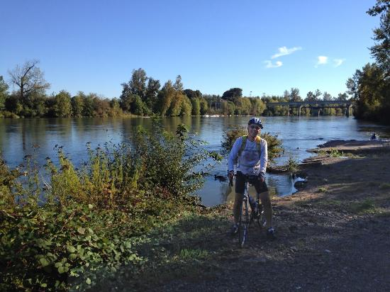 Author Along River Trail Picture Of Willamette River Bike Trail