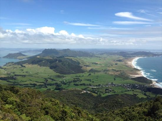 View back upon Whangarei Heads