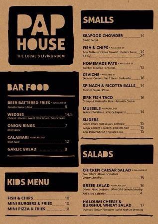 Papamoa, New Zealand: food menu